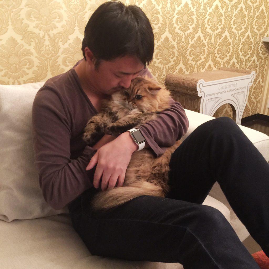 抱っこが嫌いなペルシャ猫エレナ